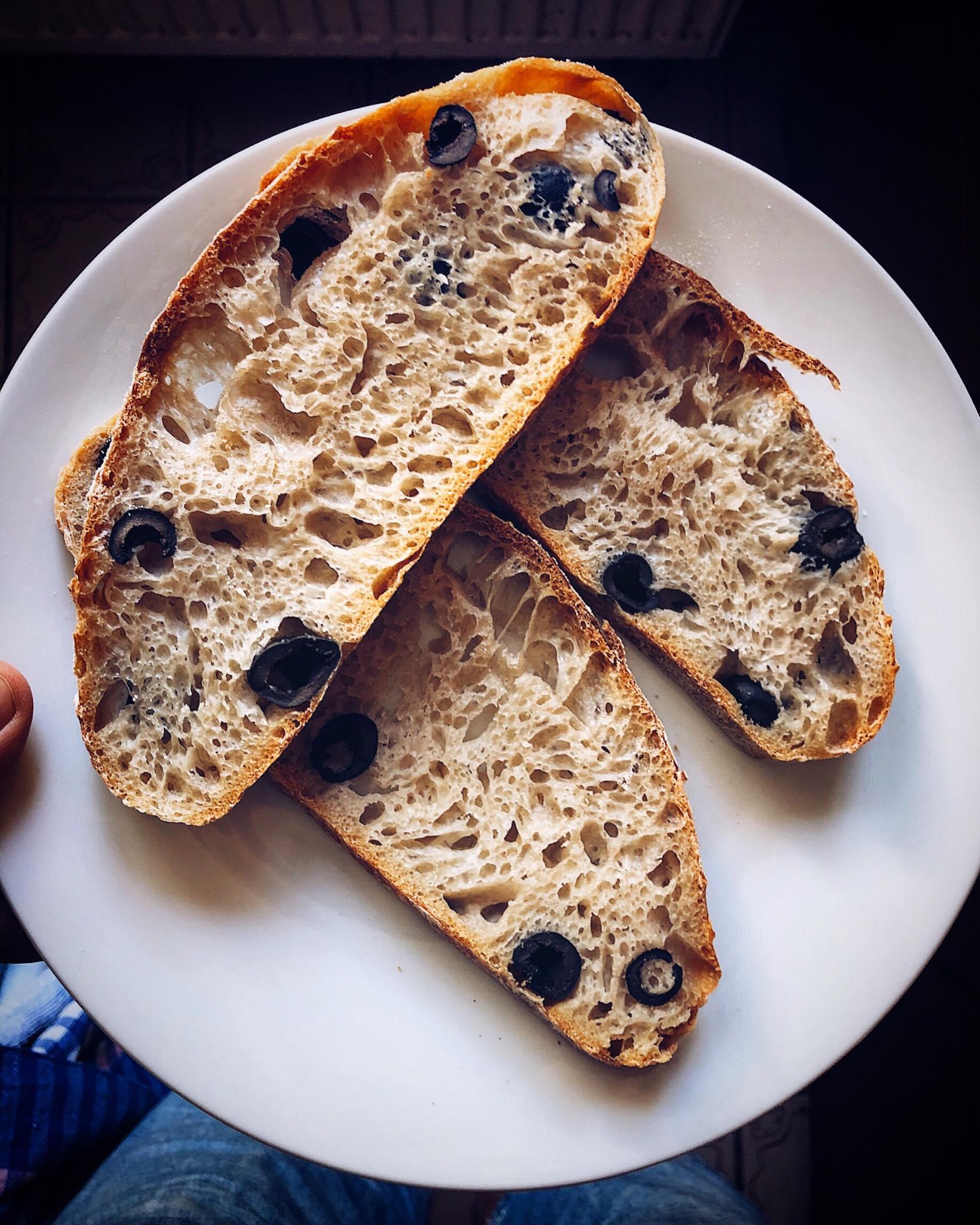 Olivový chlieb s kváskom Lievito Madre