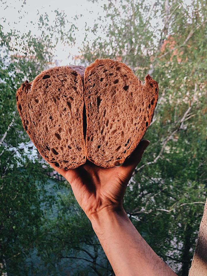 Vermontský chlieb s ražnou múkou a kváskom Lievito madre