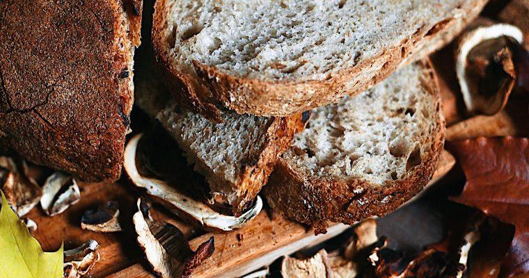 Jesenný hubový chlieb s kváskom Lievito madre