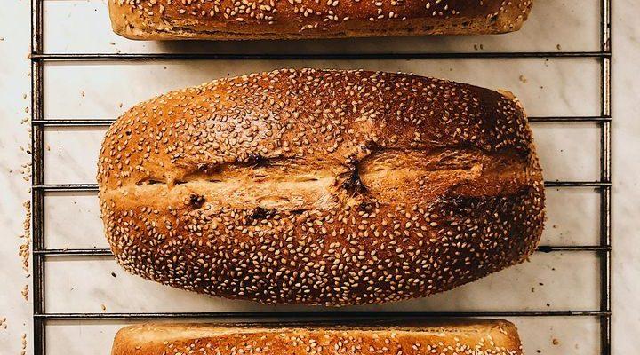 Sezamový chlieb s tahini a kváskom Lievito madre