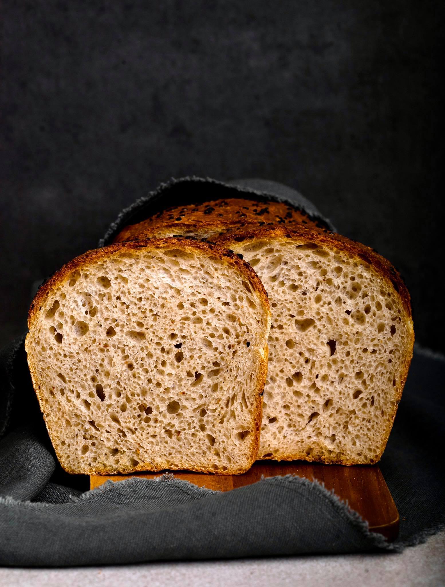 Špaldový toastový chlieb s kváskom lievito madre
