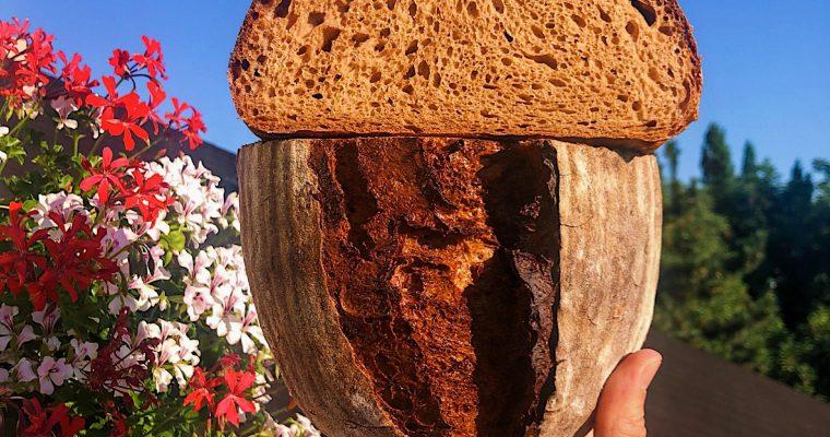 Chlieb s miso pastou a kváskom Lievito madre